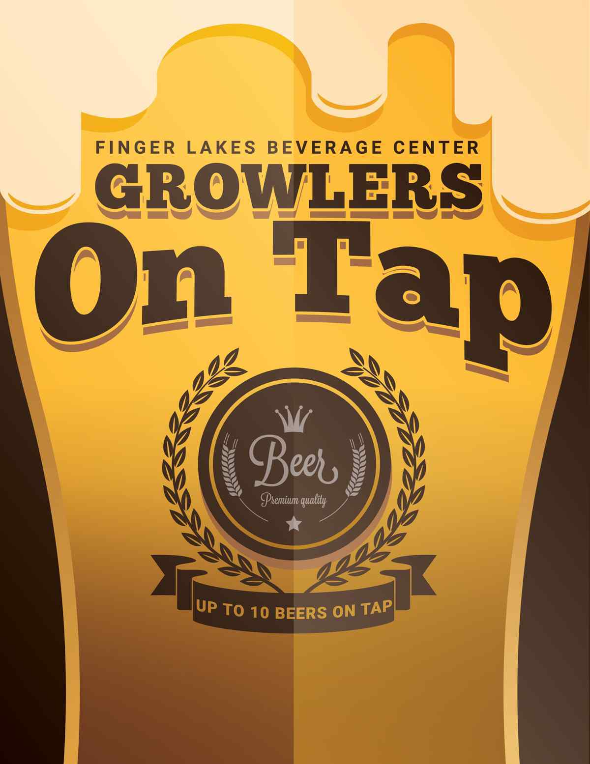 Growlers on Tap at Finger Lakes Beverage Center
